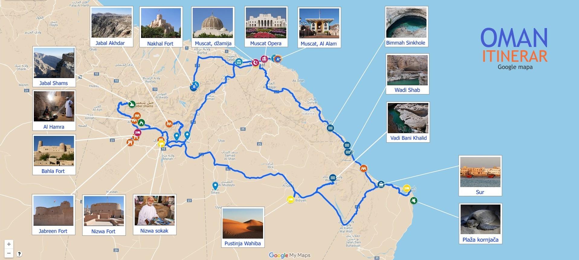 Oman Itinerar Google